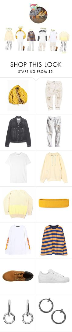 """""""[After School Club] STAR X"""" by official-starx ❤ liked on Polyvore featuring Stussy, Acne Studios, Neil Barrett, Current/Elliott, La Paz, Timberland, adidas, Sophie Buhai, men's fashion and menswear"""