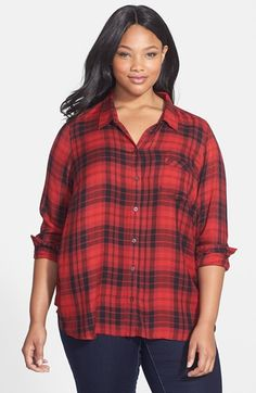 Free shipping and returns on Lucky Brand Plaid Flannel Boyfriend Shirt (Plus Size) at Nordstrom.com. A woodsy fall classic in a relaxed cut of cozy flannel is updated with a paneled shirttail hem in back detailed with a button placket.