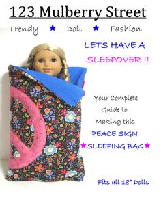 Doll Sleeping Bag. I will definitely be making several of these this Spring in anticipation of camping season!