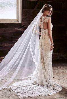 anna campbell 2018 bridal cap sleeves sweetheart neckline full embellishment elegant sheath wedding dress lace rasor back sweep train (13) bv -- Anna Campbell 2018 Wedding Dresses