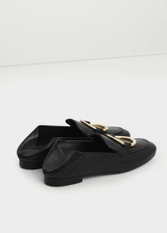 Mocassins cuir ornement