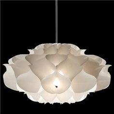 flower inspired pendant light