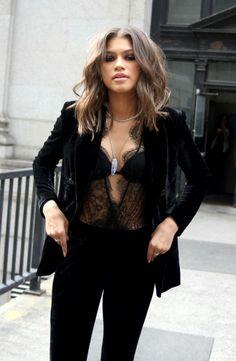 8 Best black bodysuit outfit images  4f84b8a5a