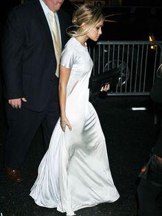 Silk white dress