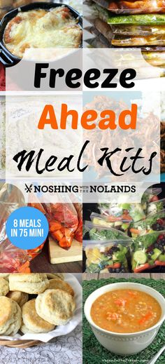 Freeze Ahead Meals Kits by Noshing With The Nolands is an outstanding collection of appetizing recipes. A fabulous way to save time when the prep work is already done for you on those busy nights!