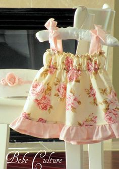 Beautiful shabby chic baby girl dress