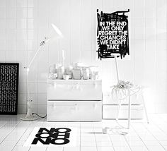 Black and white typographic posters by Therese Sennerholt