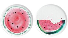 Margaret Berg Art: Summer+Watermelon+Plates