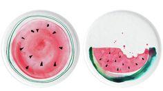 Margaret Berg : summer / fruit fun: Summer Watermelon Lunch Plates