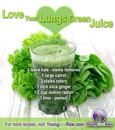 Green Juice Recipe: Love Your Lungs Green Juice #greenjuice #raw #vegan #glutenfree #recipes