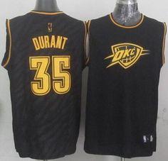 Thunder  35 Kevin Durant Black Precious Metals Fashion Stitched NBA Jersey a8da0b220