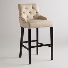 Must get these for my breakfast bar! One of my favorite discoveries at WorldMarket.com: Linen Lydia Barstool