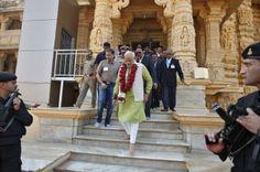 Narendra Modi visits the Somnath Hindu Temple