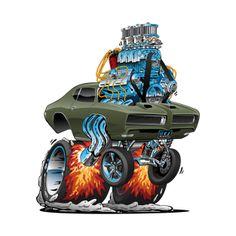 Shop Classic American Muscle Car Hot Rod Cartoon Vector Illustration car cartoon t-shirts designed by hobrath as well as other car cartoon merchandise at TeePublic. Pontiac Gto, Weird Cars, Cool Cars, Car Best, Hot Rod Autos, Cartoon Car Drawing, Cartoon Art, Cool Car Drawings, Cars Coloring Pages