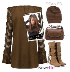 """""""#lovenewchic #bad hair beanies"""" by katymill ❤ liked on Polyvore"""