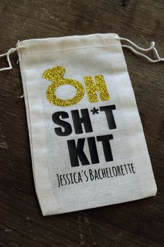 Oh Shit Kit Bags are the perfect way to give your bachelorette party guests a little something to remember....other than a hangover! Stuff