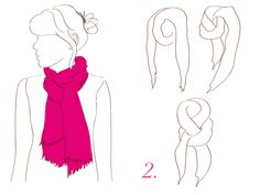 5 ways to wear a scarf