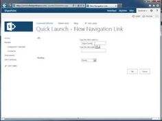 How to Add an Item to the SharePoint 2013 Quick Launch Bar - #SharePoint 2013 Tutorials