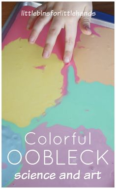 How To Make Colored Oobleck Science Sensory Play