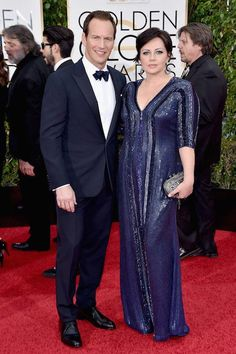 Patrick Wilson with wife Dagmara Dominczyk at the Golden Globes in January 2016...