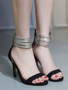 Sexy high heel Roman style women sandals YS-C5607-Lovelyshoes.net