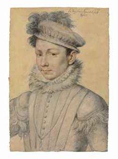 François Clouet (Tours circa 1515-1572 Paris)  Portrait of King Charles IX (1550-1574)