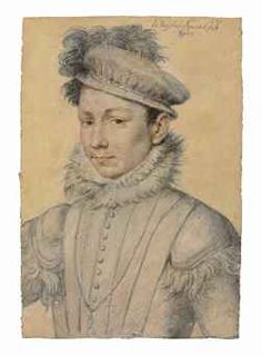 François Clouet (Tours circa 1515-1572 Paris)  Portrait of King Charles IX (1550-1574)