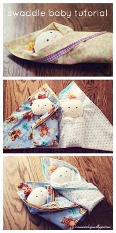 DIY Swaddle Baby Doll Free Sewing Pattern and Tutorial Doll Patterns Free, Doll Sewing Patterns, Sewing Dolls, Baby Sewing, Free Sewing, Fabric Doll Pattern, Fabric Dolls, Baby Swaddle, Swaddling Blankets