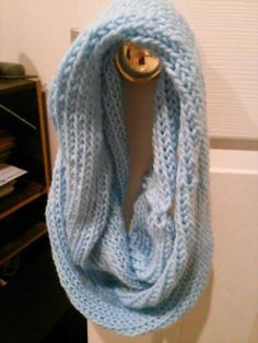 My second infinity scarf I used my smallest loom. $8 for the small ones.