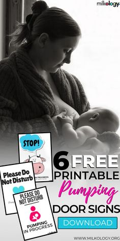Need privacy while pumping? Enjoy these free, adorable pumping door sign printables that are available right now! Breastfeeding And Bottle Feeding, Breastfeeding Tips, Baby Feeding, Newborn Nursing, Pumping Schedule, Pumping At Work, Exclusively Pumping, Mom Advice, Door Signs