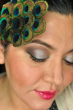Retro inspired smoky eyes.