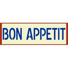 """Bon Appetit"" Stencil 