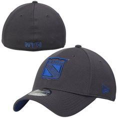 Mens New York Rangers New Era Graphite Tech Grafpop Classic Flex Hat