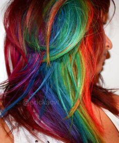 Ericka Carvalho's Rainbow hair