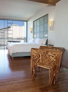 The famous favela chair designed by Campana Brothers at the New Hotel in Athens, Greece.