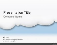 Cloud Computing PowerPoint Template is a free light and clean PowerPoint background for presentations about cloud computing including Amazon products or other cloud computing services