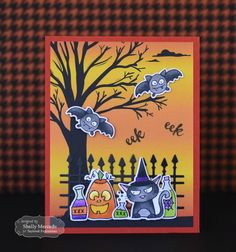 Eek Eek Card by Shelly Mercado #Cardmaking, #TEMatched, #Halloween…