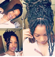 Thick loc braidout