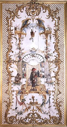 L'alchimiste de la Grande Singerie du château de Chantilly, décor de Christophe Huet   L'iconographie de la Grande Singerie