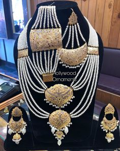 To but this whatsapp Lite Weight Moti Sets Available At Hollywood Ornaments Whatsaap:- 9797917924 Address:- Main Road Hari Singh High Street Amira kadal… Gold Jewellery, Jewelry, Vogue, Hollywood, Ornaments, Bridal, Street, Gold Jewelry, Jewlery