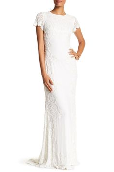 Short Sleeve Beaded Gown by Issue New York on @nordstrom_rack