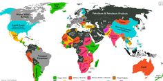 MAP: Every Country's Highest-Valued Export Could be useful in explaining partly the rich and poor divide
