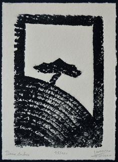 Deux Arbres, tout bêtement parce qu'on voit dans cette gravure l'arbre représenté au centre ainsi que les stries de celui qui a servit à faire