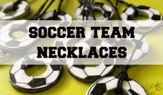 TrashN2Tees: Soccer Ball Team Necklaces // Free Printable