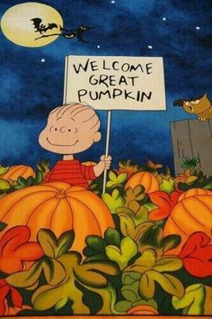 Halloween Welcome Great Pumpkin Charlie Brown Snoopy cotton Fabric . Snoopy Halloween, Retro Halloween, Charlie Brown Halloween, Great Pumpkin Charlie Brown, Halloween Quotes, Halloween Pictures, Holidays Halloween, Halloween Crafts, Happy Halloween