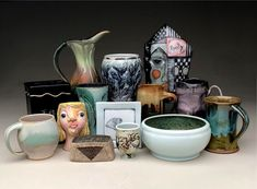 Our studio artists make wonderful handmade pottery and sculpture. Our ceramic art is wheel thrown and handbuilt. We use red clay, earthenware, porcelain and stoneware. Kansas City, Ceramic Studio, Ceramic Art, Earthenware, Stoneware, Carpe Diem, Handmade Pottery, Sculpture Art, Clay