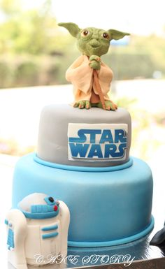 this would be a perfect star wars themed baby shower cake