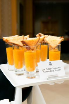 Bar Mitzvah Grilled Cheese and Tomato Soup Shooters at Bethesda North Marriott…