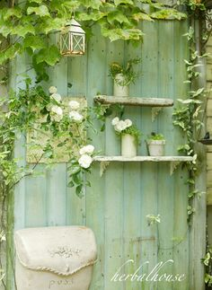 green painted fencing.