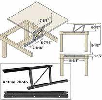 Woodtek® Coffee Table Lift Mechanism, Coffee Table Lift Top Hardware, Coffee Table Lift Top Hardware Set